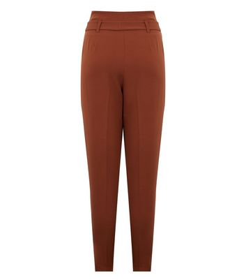 Click to view product details and reviews for Orange High Waist Tapered Trousers New Look.