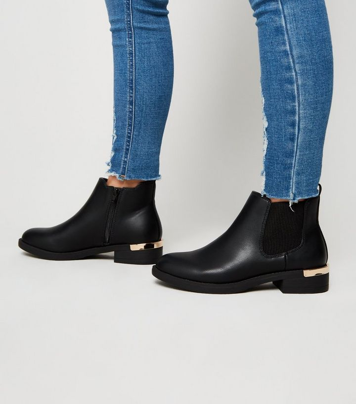 grand choix de cbbd4 66f37 Girls Black Leather-Look Chelsea Boots Add to Saved Items Remove from Saved  Items