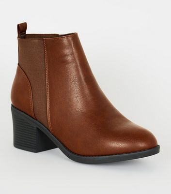 wide fit chelsea boots tan leather womens