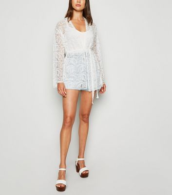 Carpe Diem Cream Lace Belted Cardigan