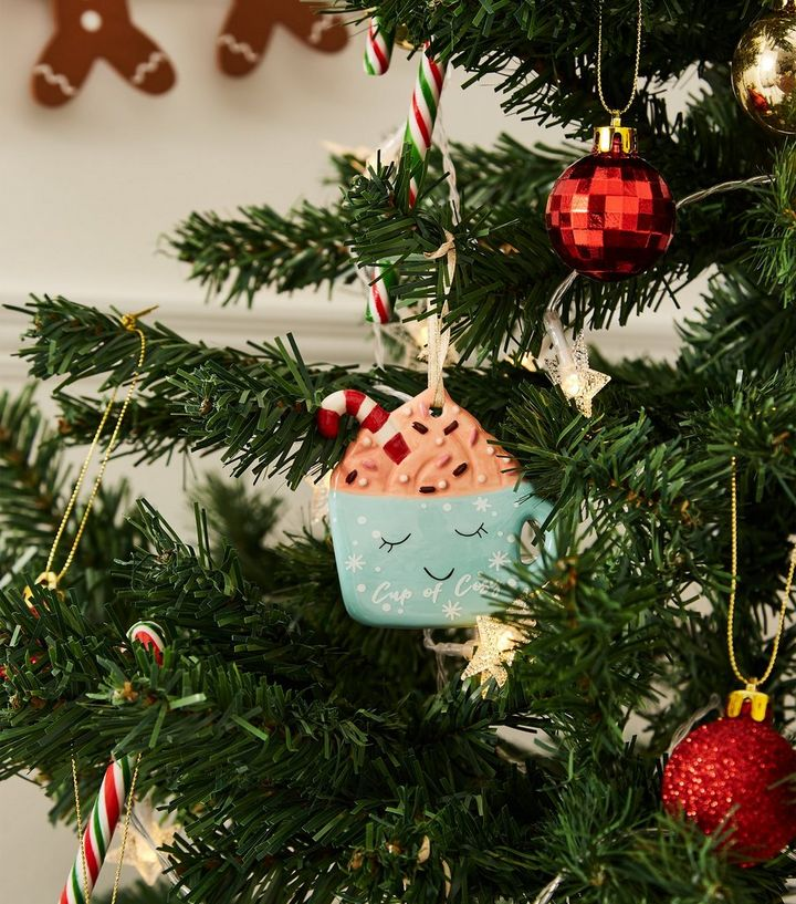 Coffee Christmas Ornament.Mint Green Coffee Cup Christmas Decoration Add To Saved Items Remove From Saved Items