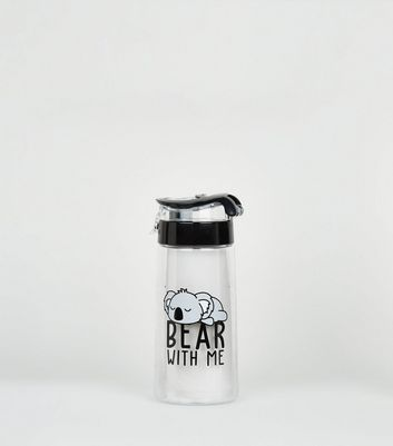 Clear Bear With Me Koala Slogan Bottle