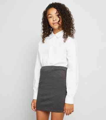 Girls Dark Grey Tube Skirt