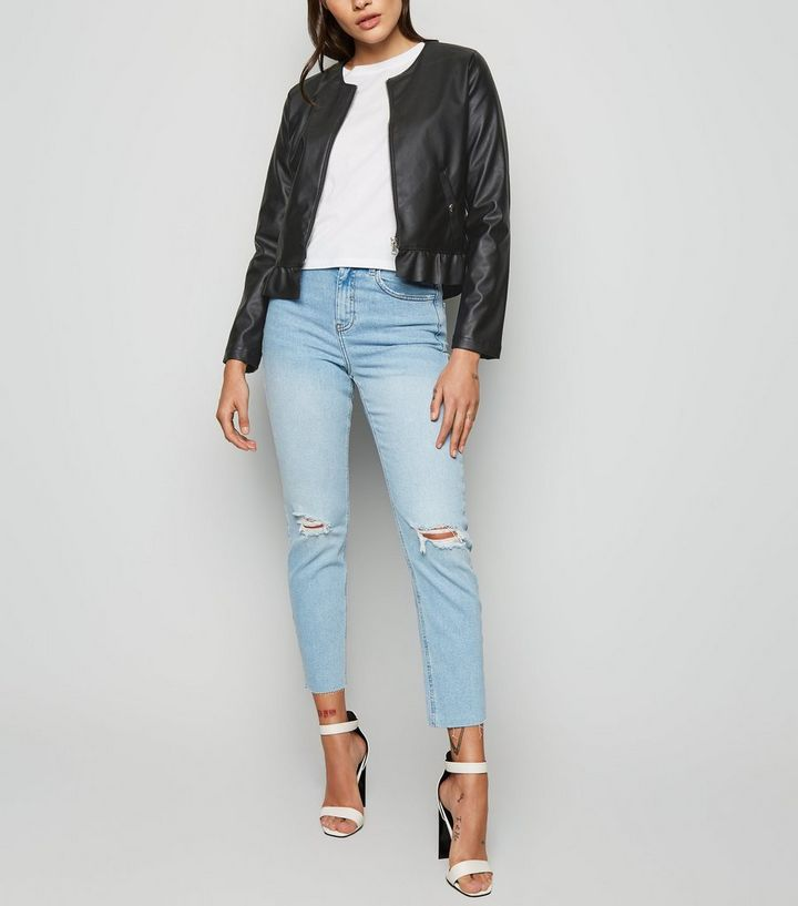 a9d30010ff040 ... Urban Bliss Black Leather-Look Peplum Jacket. ×. ×. ×. Shop the look