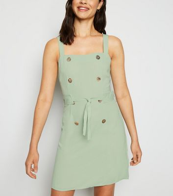 Urban Bliss Green Pinafore Dress