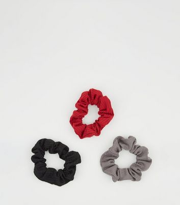 3 Pack Multicoloured Jersey Scrunchies