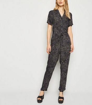 Apricot Khaki Animal Print Jumpsuit