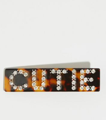 Dark Brown Tortoiseshell Effect Cutie Hair Clip