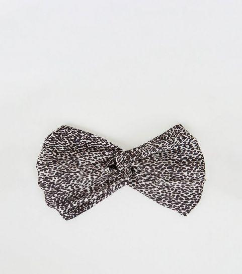 fe3ed1d0bd Black Leopard Print Satin Headband · Black Leopard Print Satin Headband ...