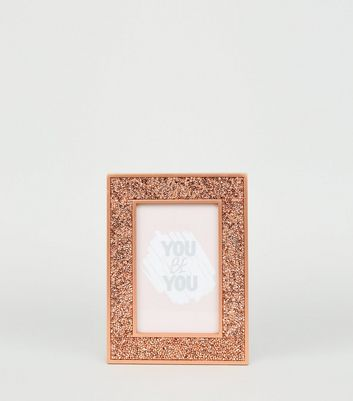 Photo of Rose gold embellished 6x4 photo frame new look