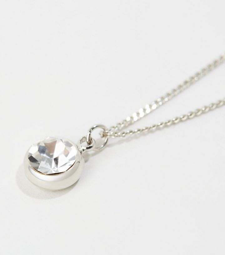 Silver Plated Pendant Necklace with Crystals from Swarovski®