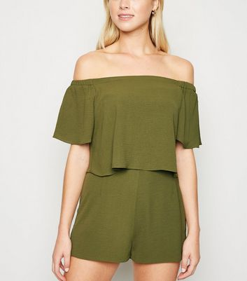 Cameo Rose Olive Layered Playsuit