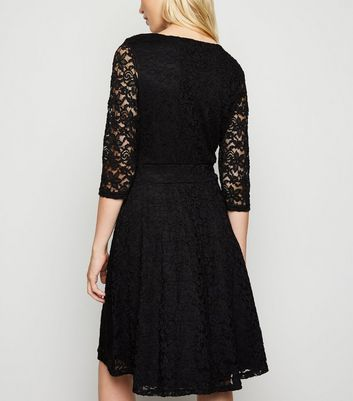 Click to view product details and reviews for Mela Black Lace Mini Dress New Look.