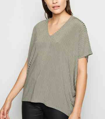 cf499a748041 Green Tops | Khaki, Lime & Emerald Green Tops | New Look