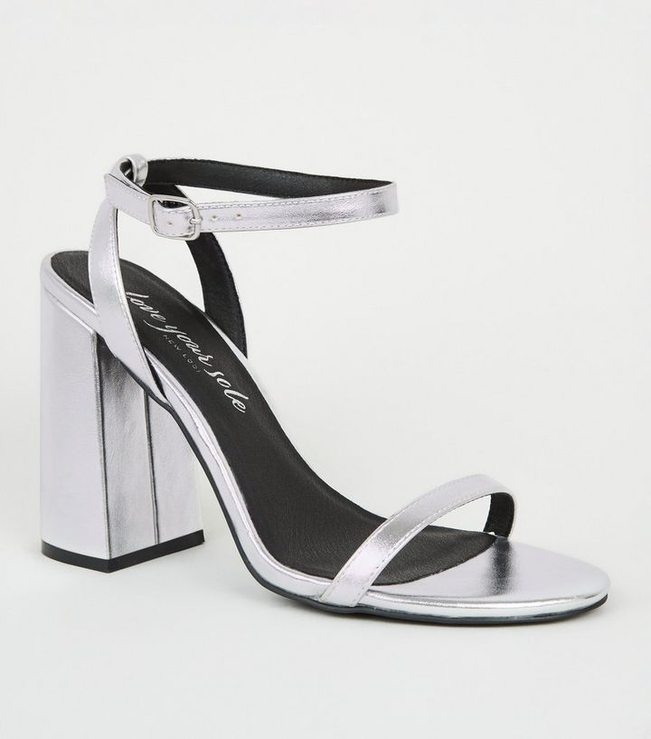 official site thoughts on quite nice Silver Metallic 2 Part Flared Block Heels Add to Saved Items Remove from  Saved Items