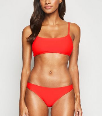 Red Hipster Bikini Briefs
