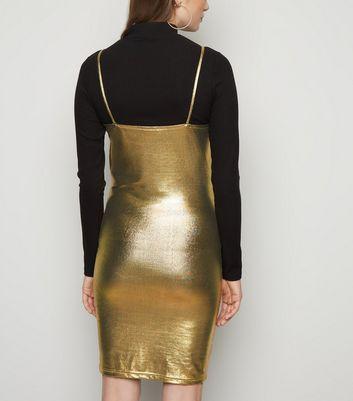 Noisy May Gold Metallic Dress New Look