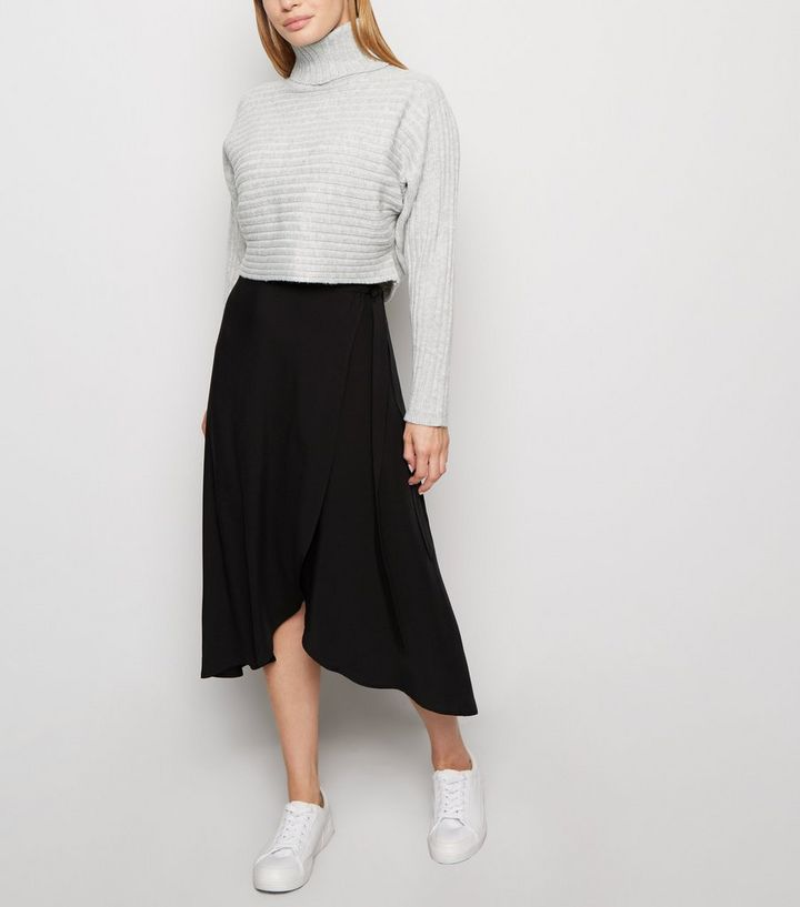 temperament shoes 60% clearance modern style Petite Black Wrap Midi Skirt Add to Saved Items Remove from Saved Items