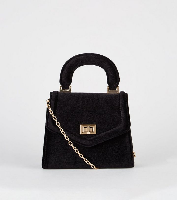 Black Velvet Mini Tote Bag Add To Saved Items Remove From