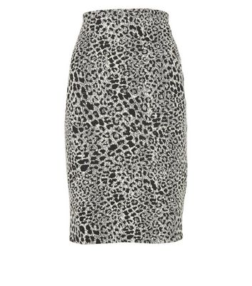 Click to view product details and reviews for Black Leopard Print Pencil Skirt New Look.