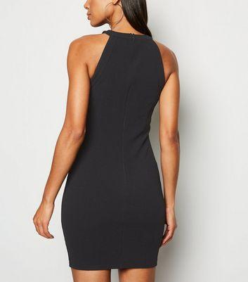 AX Paris Black Button Trim Bodycon Dress New Look