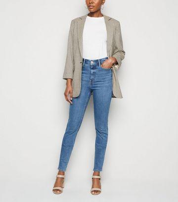 Tall Blue 'Lift & Shape' High Waist Skinny Jeans