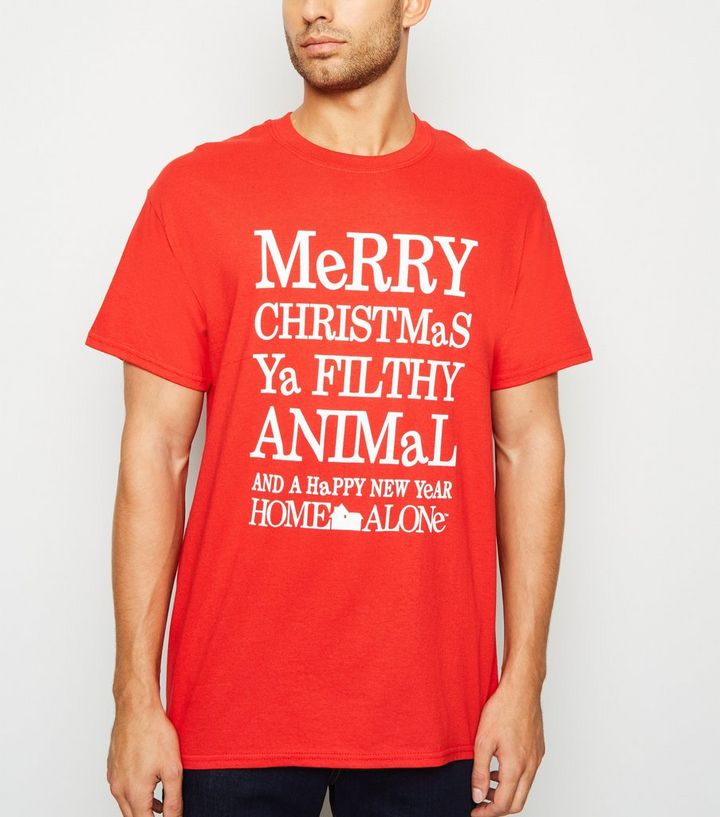Merry Christmas Ya Filthy Animal Shirt.Red Filthy Animal Christmas Slogan Oversized T Shirt Add To Saved Items Remove From Saved Items
