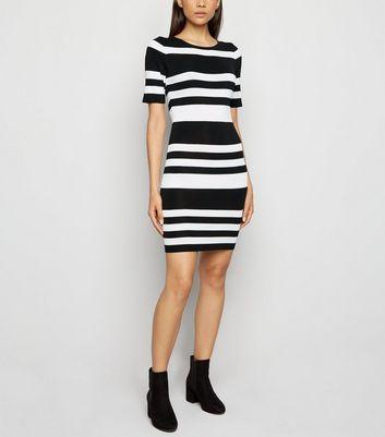Black Stripe Mini Bodycon Dress | New Look