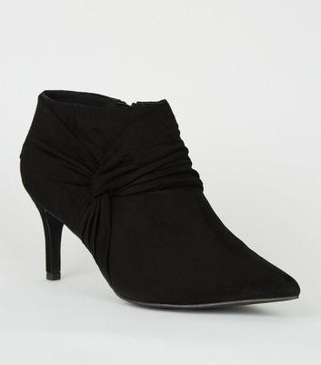Wide Fit Black Twist Shoe Boots   New Look