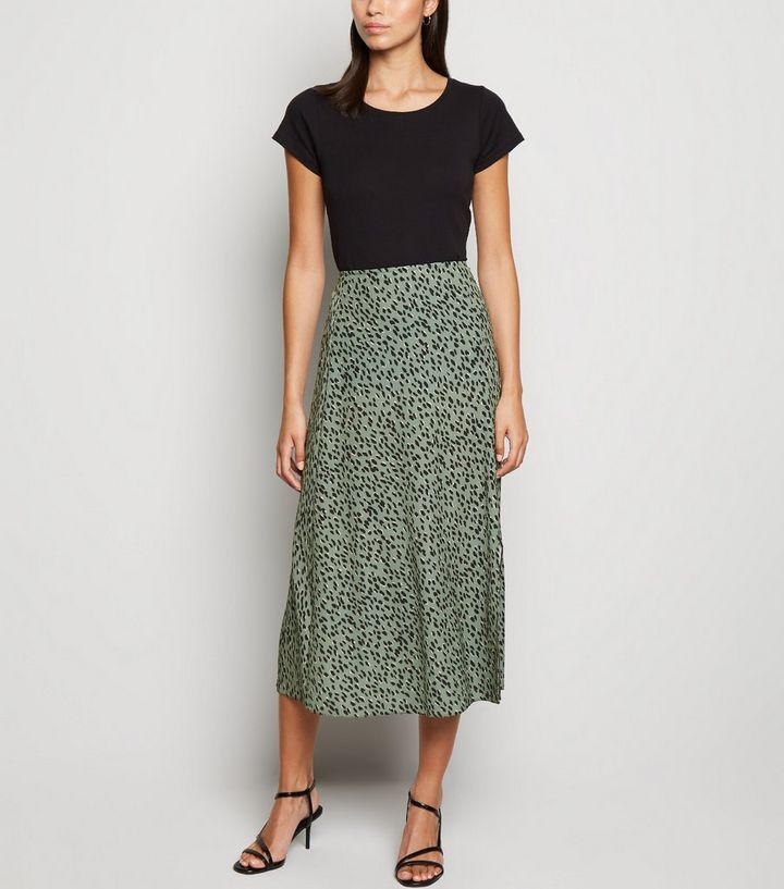 various design get online 100% top quality Green Spot Side Split Midi Skirt Add to Saved Items Remove from Saved Items