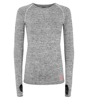 GymPro Grey Long Sleeve Sports Top New Look