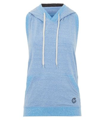 GymPro Pale Blue Backless Sports Hoodie New Look