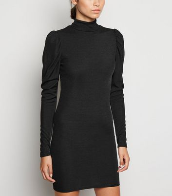 Carpe Diem Black Puff Sleeve Dress New Look