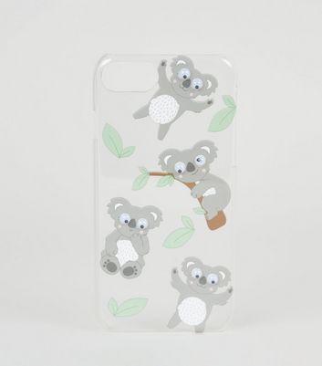 coque diphone66s78 gris fonce design koala