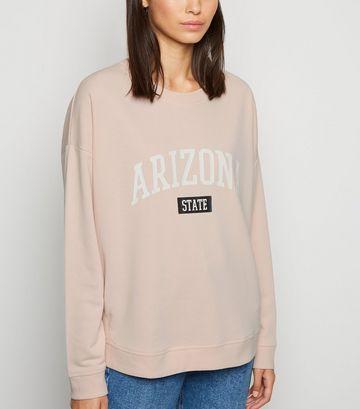Pale Pink Arizona State Slogan Sweatshirt