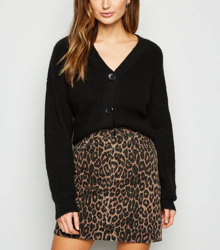 agreatvarietyofmodels cheaper elegant in style Brown Leopard Print Denim Mini Skirt Add to Saved Items Remove from Saved  Items
