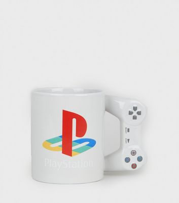 Multicoloured Play Station Controller Mug by New Look