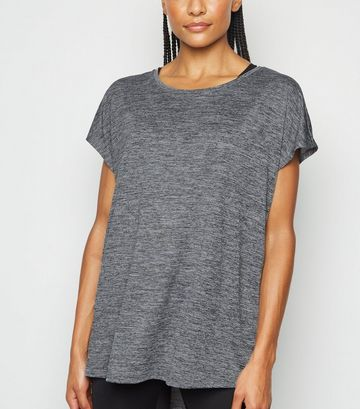 Dark Grey Marl Sports T-Shirt