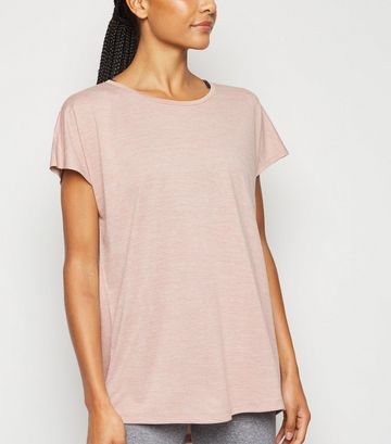 Pale Pink Marl Sports T-Shirt