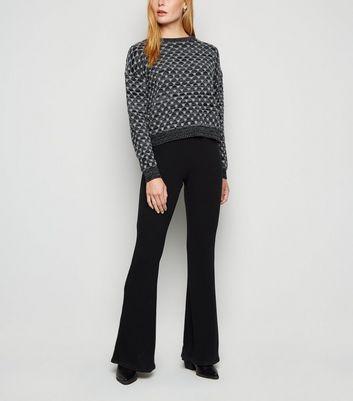 Carpe Diem Black Geometric Knit Jumper New Look