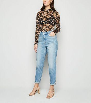 Urban Bliss Black Floral Lace Bodysuit New Look
