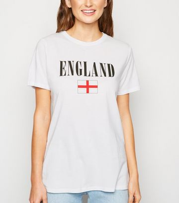 White England Flag Rugby T-Shirt