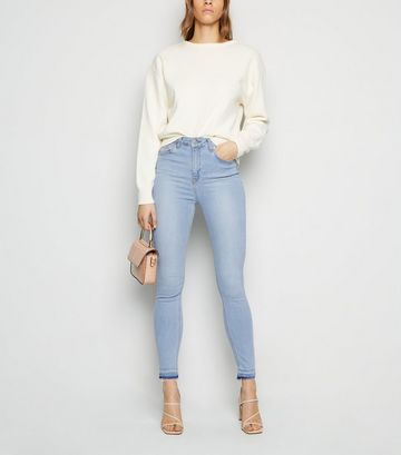 NA-KD Pale Blue High Waist Skinny Jeans