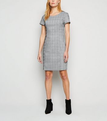 Apricot Black Dogtooth Check Mini Dress New Look