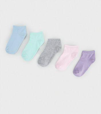 Pack Multicoloured Pastel Trainer Socks