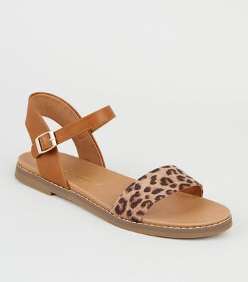 Stone Leather-Look Leopard Print