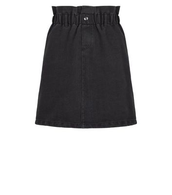 Noisy May Black High Waist Denim Skirt New Look