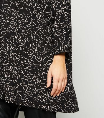 Noisy May Black Scribble Print Tunic Top New Look