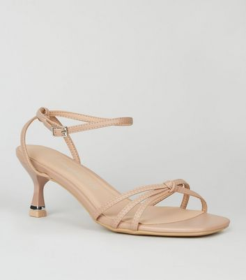 Wide Fit Cream Strappy Knot Kitten