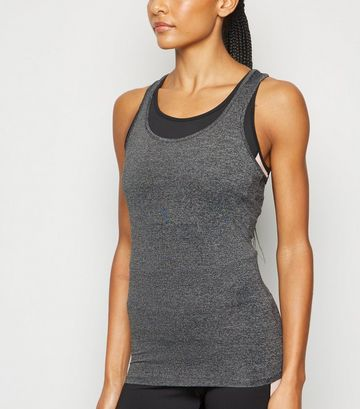 Grey Marl Fitted Sports Vest